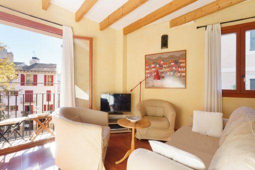 Möbliertes Apartment mit Klimaanlage und kleinem Balkon in Palmas Altstadt