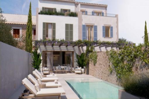 Traumhaftes Neubaustadthaus mit Pool in Santanyí