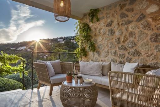 Terrasse mit schöner Aussicht