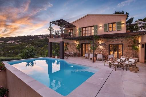 Exklusives Beachhouse mit Pool und Gästeapartment in Port Andratx