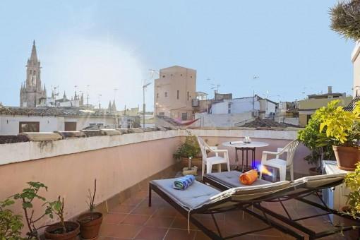 Helles Duplex-Penthouse in der Altstadt Palmas