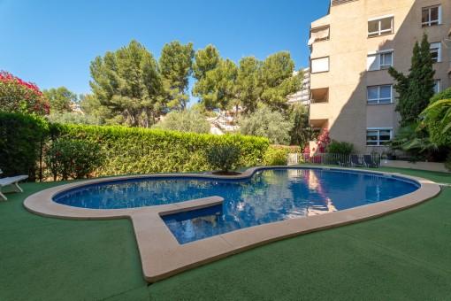 Wohnung in ruhiger, sehr guter Lage mit toller Aussicht in Palma