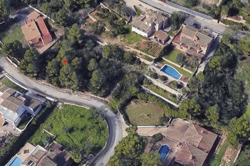 Grundstück in einem prestigeträchtigem Wohngebiet in Bunyola