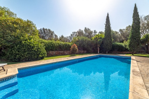 Großer Pool für Sommertage