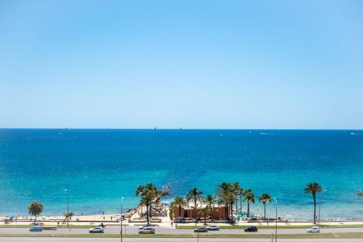Meer- und Strandblick