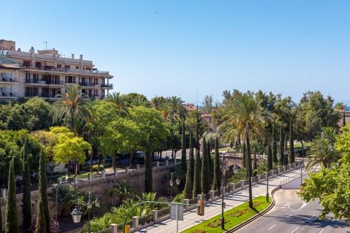 3 SZ Wohnung am Paseo Mallorca mit Terrasse und großartigem Blick