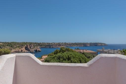 Herrlicher Meerblick von der Terrasse