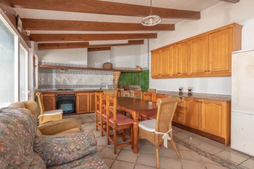 Sommerhaus mit Küche am Pool