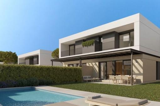 Moderne und komfortable Neubau-Doppelhaushälften in Puig de Ros