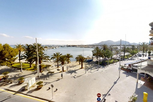 Komfortables möbliertes Apartment mit tollem Blick in erster Meereslinie von Port d'Alcúdia