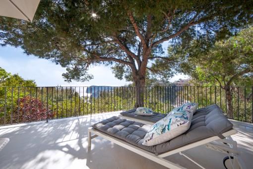 Terrasse mit herrlichen Ausblick