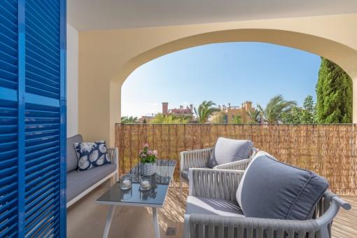 Chill-Out Lounge auf dem Balkon