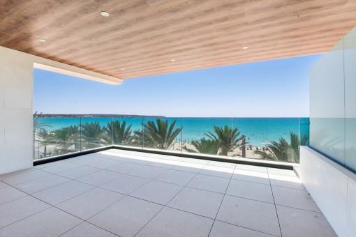 Luxus Beach Penthouse in 1. Linie an der Playa de Palma