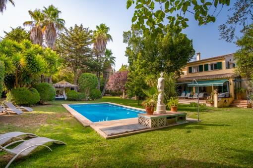 Wunderschöne Finca mit großem Pool und Ferienvermietlizenz am Dorfrand von Santa Maria del Camí