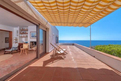 Fantastische Villa mit Meerblick in privilegierter Gegend von Cala Gat