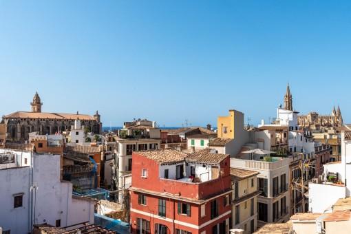 Loftwohnung mit 360 Grad-Blick Dachterrasse in der Altstadt von Palma