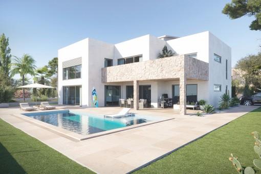 Moderne Neubauvilla mit Pool in ruhiger Lage von Sa Rápita