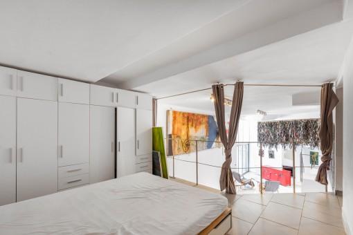 Schlafzimmer auf der Galerie