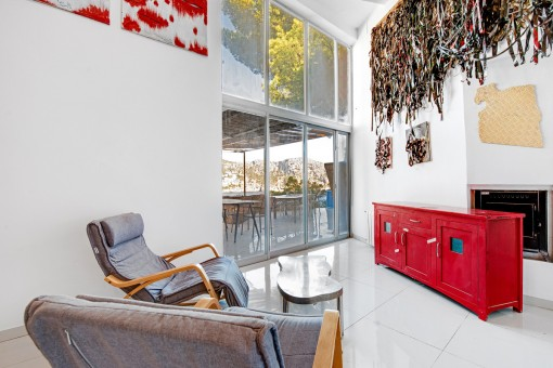 Wohnbereich mit Terrassenzugang