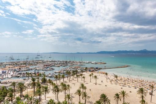 Penthousewohnung in unmittelbarer Strandnähe vor dem Yachthafen in El Arenal