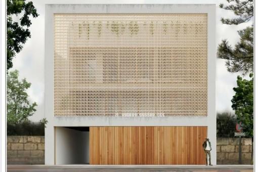 Baugrundstück mit Projekt für ein Einfamilienhaus mit 2 Etagen, Garage und Pool in Artá