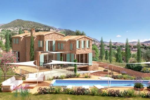 Neubau Luxus Finca-Projekt in Alaró mit viel Land für Pferdehaltung Oder Weinanbau