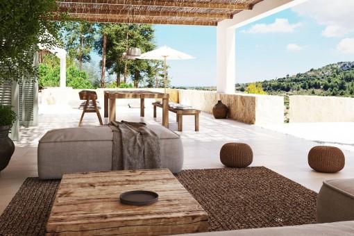 Loungebereich mit Weitblick