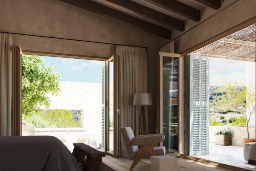 Hauptschlafzimmer mit Terrasse