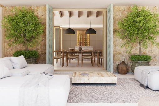 Entspannter Loungebereich