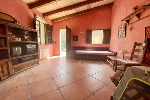 Schlafzimmer mit Gästehaus