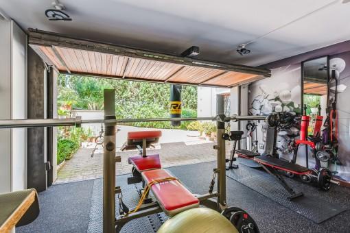 Gym in der Garage