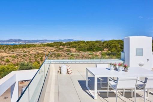 Modernes Reihenhaus mit Meerblick am Naturschutzgebiet in Can Pastilla