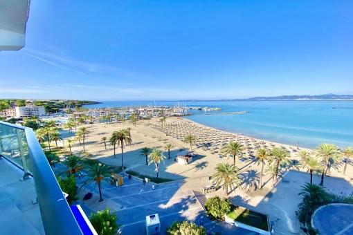 Erstklassige Wohnung in 1. Meereslinie direkt am Strand an der Playa de Palma
