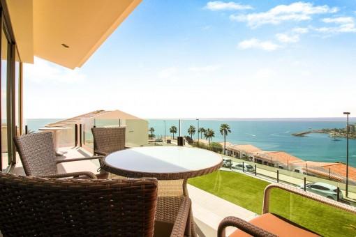 Luxuswohnung mit traumhaften Meerblick in Arguineguin