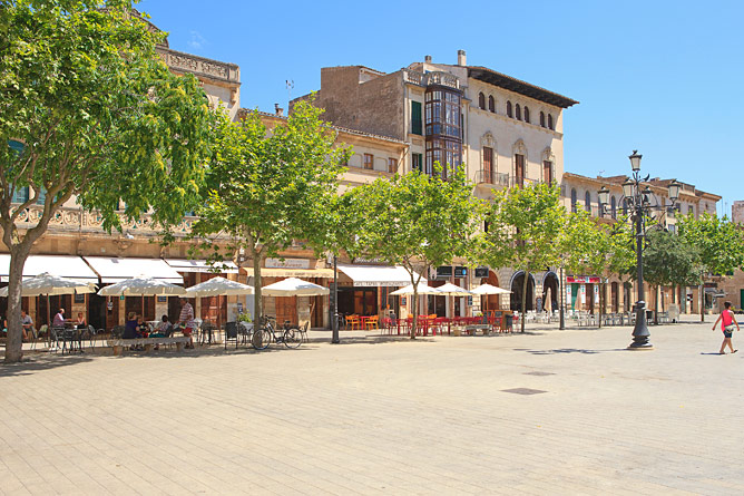 Market square in Llucmajor