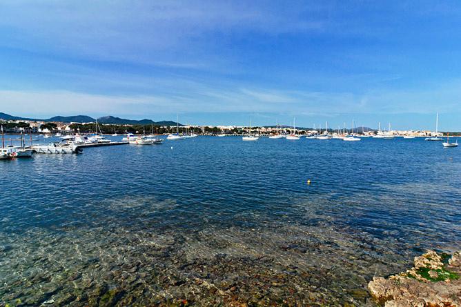 Segelboote Bucht von Portocolom
